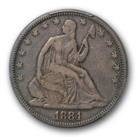 1884 50C LIBERTY SEATED HALF DOLLAR PCGS VF 20 FINE