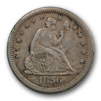 1856 S 25C LIBERTY SEATED QUARTER EXTRA FINE XF SHARP STRIKE R469