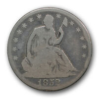 1852 O 50C LIBERTY SEATED HALF DOLLAR GOOD G NEW ORLEANS R531