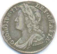 1741 SILVER 6 PENCE UNITED KINGDOM  BEAUTIFUL