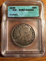 1826 CAPPED BUST HALF DOLLAR ICG CERTIFIED SEMI KEY DATE US   COIN