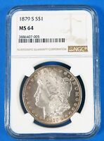 1879 S MINT STATE 64 $1 MORGAN SILVER DOLLAR NGC CERTIFIED UNITED STATES COIN