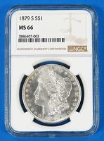 1879 S MINT STATE 66 $1 MORGAN SILVER DOLLAR NGC CERTIFIED UNITED STATES COIN