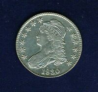 U.S.  1830  CAPPED BUST SILVER HALF DOLLAR COIN ALMOST UNCIRCULATED