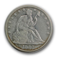 1882 50C LIBERTY SEATED HALF DOLLAR FINE VF LOW MINTAGE CLEANED R623