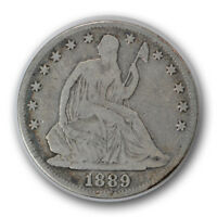 1889 50C LIBERTY SEATED HALF DOLLAR GOOD VG LOW MINTAGE R629