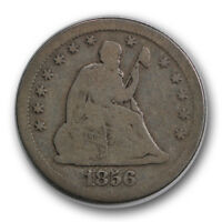 1856 S 25C LIBERTY SEATED QUARTER GOOD TO FINE ORIGINAL R643