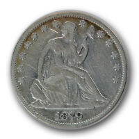1879 50C LIBERTY SEATED HALF DOLLAR FINE F LOW MINTAGE R656