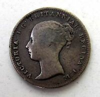 GREAT BRITAIN UK COINS FOURPENCE GROAT 1846 VICTORIA SILVER 0.925
