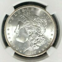 1887-S MORGAN SILVER DOLLAR - NGC MINT STATE 63