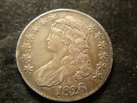 1826  XF AU  CAPPED BUST HALF DOLLAR NICE ORIGINAL LOOK PH2
