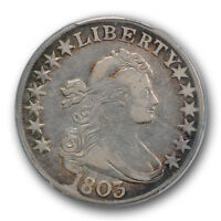 1803 50C DRAPED BUST HALF DOLLAR PCGS VF 30 LARGE 3 OVERTON 103