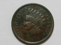 COINHUNTERS- 1865 FANCY 5 INDIAN HEAD CENT -  GOOD, VG