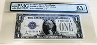 1928 $1 'FUNNY BACK' SILVER CERTIFICATE FR.1600 PMG 63 EPQ CHOICE UNCIRCULATED
