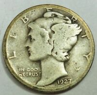 1927 UNITED STATES MERCURY HEAD DIME   VG GOOD CONDITION