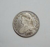 1830 CAPPED BUST/LETTERED EDGE HALF DOLLAR FINE SILVER 50C