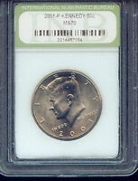 2001 P KENNEDY HALF DOLLAR SLABBED 3G420 LUSTROUS BEAUTY