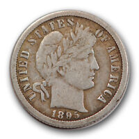 1895 O 10C BARBER DIME FINE TO FINE NEW ORLEANS R886