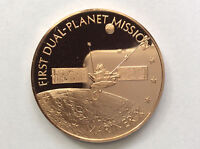 1977 FRANKLIN MINT MARINER X PROOF BRONZE MEDAL AMERICA IN SPACE A1766