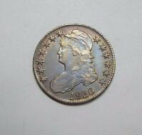 1826 CAPPED BUST/LETTERED EDGE HALF DOLLAR EXTRA FINE SILVER 50C