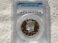 1996 S KENNEDY CLAD PROOF HALF DOLLAR PCGS PR70 DCAM THE BEST @ PCGS