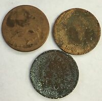 1873 1865 INDIAN CENT LOT OF 3