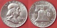 BRILLIANT UNCIRCULATED 1958D US FRANKLIN SILVER 50 CENTS FROM MINT'S ROLL