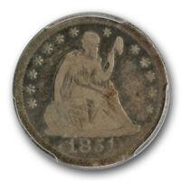 1851 O 25C LIBERTY SEATED QUARTER PCGS VG8 GOOD KEY DATE