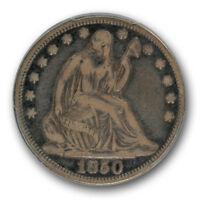 1850 50C LIBERTY SEATED HALF DOLLAR PCGS VF 20 FINE CAC APPROVED