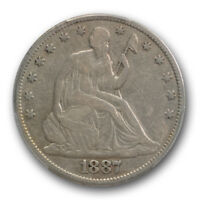 1887 50C LIBERTY SEATED HALF DOLLAR PCGS VF 20 FINE