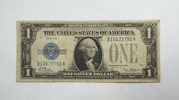 SERIES 1928 $1 BLUE SEAL SILVER CERTIFICATE NOTE WITH FUNNYBACK FINE FR1600