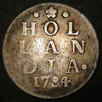 COA SILVER OVERDATE 1784/0 OLD DUTCH COLONIAL NEW YORK DIME HOLLANDIA LION DIME