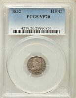 1832 CAPPED BUST HALF DIME VF20 PCGS