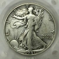 1941 D SILVER WALKING LIBERTY HALF DOLLAR  OLD US COIN A2869