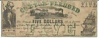 STATE OF MISSISSIPPI JACKSON $5 BANK NOTE 1862 CR18 4827 TRAIN INDIAN MAID
