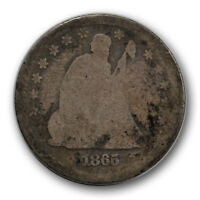 1865 25C LIBERTY SEATED QUARTER ABOUT GOOD AG TOUGH DATE P MINT R1252