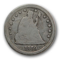 1869 S 25C LIBERTY SEATED QUARTER GOOD VG SAN FRANCISCO MINT R1254