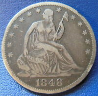 1848 O SEATED LIBERTY HALF DOLLAR FINE TO EXTRA FINE US COIN 7036