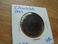 CANADA 1897 ONE 1 CENT VF