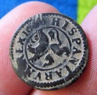 AWESOME 1600 PIRATE COBS SPANISH 2 MARAVEDIS COLONIAL COIN FELIPE  PHILIP III
