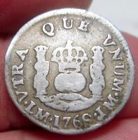 1769 LM LIMA PERU  1/2 REAL SILVER   COLONIES      PILLAR DOLLAR