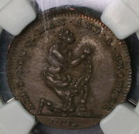 1790S NGC AU 58 SPENCE SLAVERY ADAM & EVE CONDER FARTHING D&H 1089 16070701D