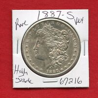 1887 S MORGAN SILVER DOLLAR 67216 HIGH GRADE COIN US MINT  KEY DATE ESTATE