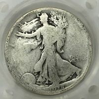 1918 S SILVER WALKING LIBERTY HALF DOLLAR  OLD US COIN A2863