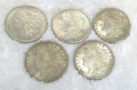 SILVER DOLLARS   5 PIECES   LUSTROUS ORIGINAL 1921 AND 1921 D