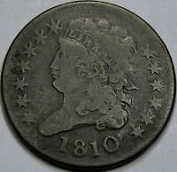 1810 CLASSIC HEAD HALF CENT CHOICE VF-EF SO  AND ORIGINAL A GREAT COIN