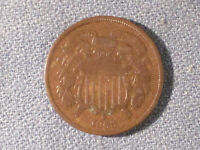 1868  TWO CENT PIECE /  STARTER COIN.  VG DETAILS
