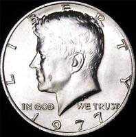1977 CHOICE BU ALL WHITE KENNEDY HALF   BEST VALUE @ CHERRYPICKERCOINS