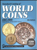 8TH STD CAT WORLD COINS 1801 1900 KRAUSE NEW/NO MARKINGS/BRAND NEW PPD BOOK USA