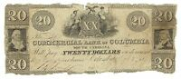 SOUTH CAROLINA COMMERCIAL BANK COLUMBIA $20 1849 SIGNED ISSUED 577 CURRENCY